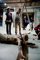 IL VILLAGGIO DI CARTONE.<br /> BARI 18 OTTOBRE 2010<br /> <br /> Ermanno Olmi impegnato negli ultimi ritocchi sul set.<br /> <br /> Foto di KASH GTorsello