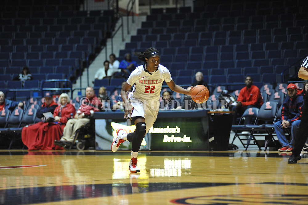 "Ole Miss forward Danielle McCray (22) vs. Southern at the C.M. ""Tad"" Smith Coliseum in Oxford, Miss. on Thursday, November 20, 2014. (AP Photo/Oxford Eagle, Bruce Newman)"