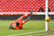 Bolton's U23 James Aspinall tips the ball wide during the U23 Professional Development League Play-Off Final match between Nottingham Forest and Bolton Wanderers at the City Ground, Nottingham, England on 4 May 2018. Picture by Jon Hobley.