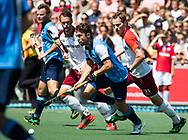 AMSTELVEEN -     Play Offs / Outs Hockey hoofdklasse.  Hurley-Almere (0-1) . Almere wint blijft in de hoofdklasse. COPYRIGHT KOEN SUYK