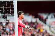 Sevilla goalkeeper David Soria (13) during the Emirates Cup 2017 match between Arsenal and Sevilla at the Emirates Stadium, London, England on 30 July 2017. Photo by Sebastian Frej.