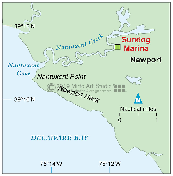 Vector map of Newport, New Jersey marina