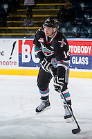 KELOWNA, CANADA - DECEMBER 2: Rourke Chartier #14 of Kelowna Rockets skates against the Kootenay Ice on December 2, 2015 at Prospera Place in Kelowna, British Columbia, Canada.  (Photo by Marissa Baecker/Shoot the Breeze)  *** Local Caption *** Rourke Chartier;
