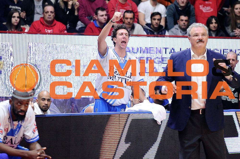 DESCRIZIONE : Varese Lega A 2014-2015 Openjob Metis Varese Banco di Sardegna Sassari<br /> GIOCATORE : Giacomo De Vecchi<br /> CATEGORIA : esultanza<br /> SQUADRA : Banco di Sardegna Sassari<br /> EVENTO : Campionato Lega A 2014-2015<br /> GARA : Openjob Metis Varese Banco di Sardegna Sassari<br /> DATA : 26/12/2014<br /> SPORT : Pallacanestro<br /> AUTORE : Agenzia Ciamillo-Castoria/Max.Ceretti<br /> GALLERIA : Lega Basket A 2014-2015<br /> FOTONOTIZIA : Varese Lega A 2014-2015 Openjob Metis Varese Banco di Sardegna Sassari<br /> PREDEFINITA :