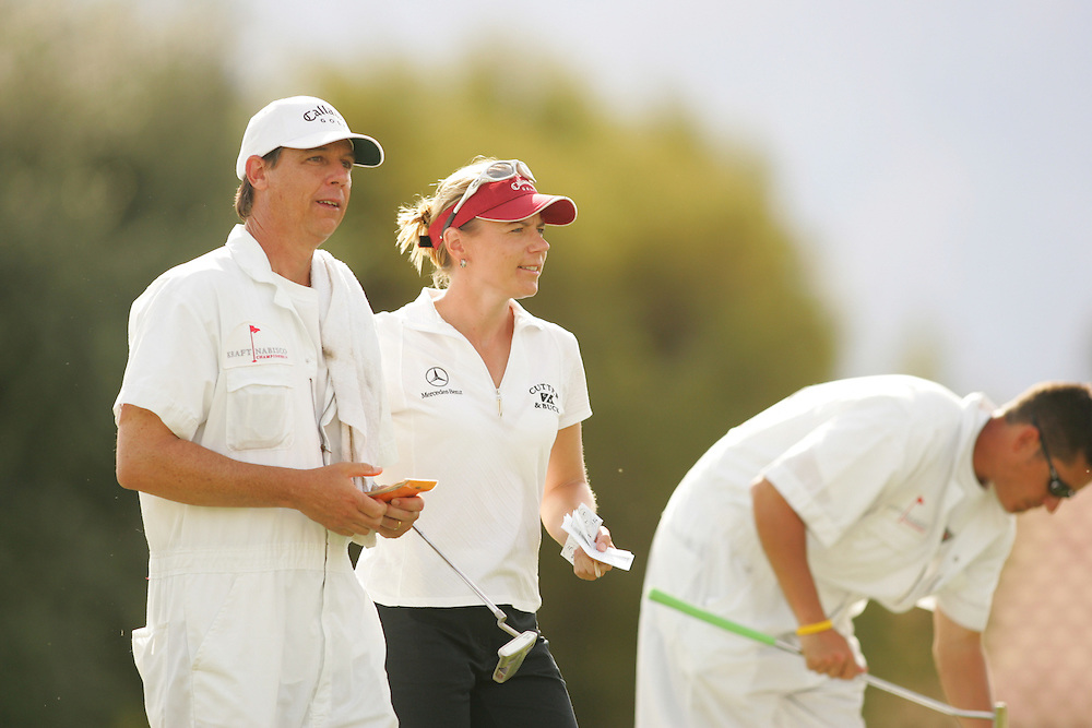 Annika Sorenstam.Terry McNamara (Caddie)..2005 Kraft-Nabisco Championship.Third Round.Mission Hills CC.Rancho Mirage, CA.Saturday March 26 2005..photograph by Darren Carroll. 03-2-05