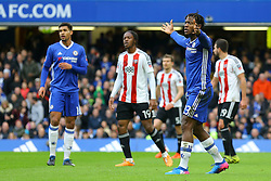 Michy Batshuayi of Chelsea thinks his shot on goal went over the line - Mandatory by-line: Jason Brown/JMP - 28/01/2017 - FOOTBALL - Stamford Bridge - London, England - Chelsea v Brentford - Emirates FA Cup fourth round