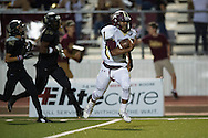 Amare Jones (1) of Frisco Heritage scrambles for a touchdown against The Colony during a high school football game at Tommy Briggs Cougar Stadium in The Colony, Texas on September 11, 2015. (Cooper Neill/Special Contributor)