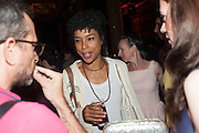 Sophie Okonedo , Press night performance of the Pride at Trafalgar Studios and afterwards at the Gladstone Library, National Liberal Club. Whitehall place. London. 13 August 2013.
