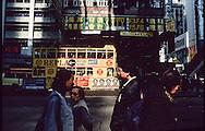 Hong Kong. tramways in Wanchai (Victoria island)         / tramways  dans le quartier de Wanchai         / R00092/85    L0007245  /  P0001866