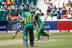 Faf du Plessis of SA during the 2nd ODI match between South Africa and Australia held at The Wanderers Stadium in Johannesburg, Gauteng, South Africa on the 2nd October  2016<br /> <br /> Photo by Dominic Barnardt/ RealTime Images