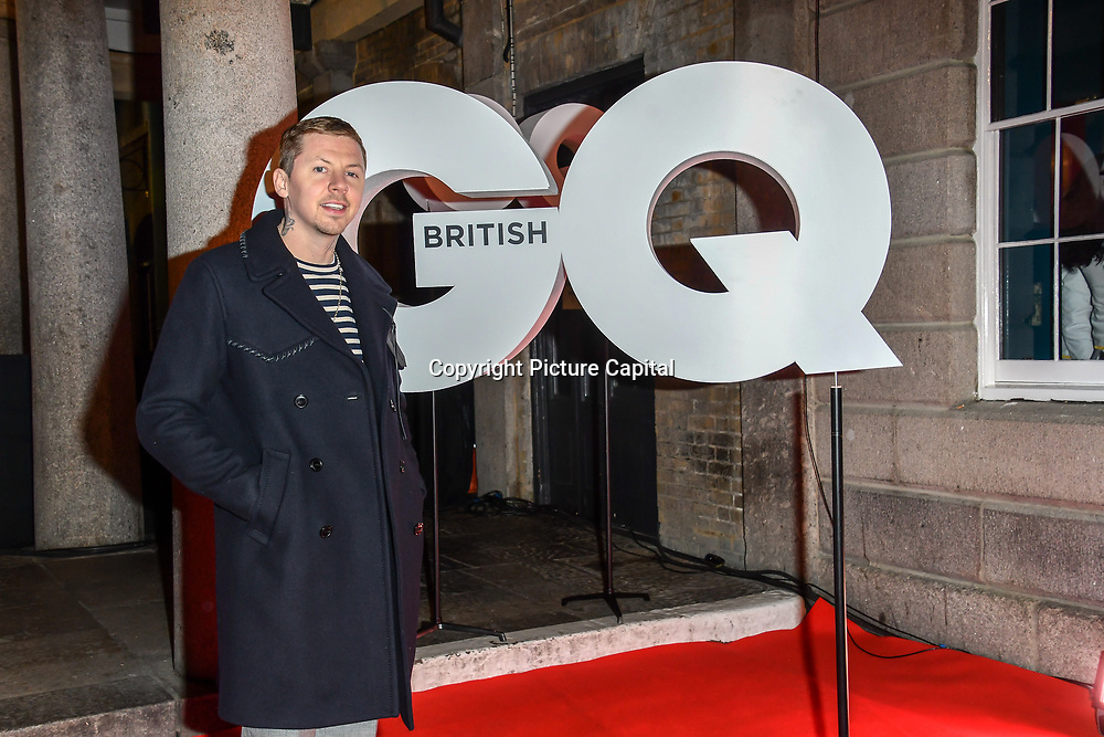 Professor Green Arrivers at GQ 30th Anniversary celebration at Sushisamba, The Market, Convent Garden on 29 October 2018.