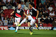 Nottingham Forest striker, on loan from Benfica, Hildeberto Pereira (17) controlling ball during the EFL Sky Bet Championship match between Brentford and Nottingham Forest at Griffin Park, London, England on 16 August 2016. Photo by Matthew Redman.