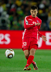 Pak Chol Jin of North Korea during the 2010 FIFA World Cup South Africa Group G match between Brazil and North Korea at Ellis Park Stadium on June 15, 2010 in Johannesburg, South Africa. Brazil defeated Korea 2-1. (Photo by Vid Ponikvar / Sportida)
