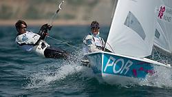 2012 Olympic Games London / Weymouth<br /> 4mporMarinho Alvaro, Nunes Miguel, (POR, 470 Men)