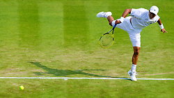 LONDON, ENGLAND - Wednesday, June 26, 2013: Yen-Hsun Lu (TPE) during the Gentlemen's Singles 2nd Round match on day three of the Wimbledon Lawn Tennis Championships at the All England Lawn Tennis and Croquet Club. (Pic by David Rawcliffe/Propaganda)