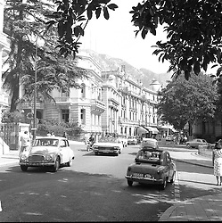 The Main Street, Monte Carlo, Monaco in February 1960.