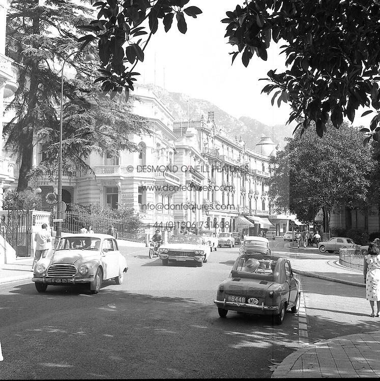 The Main Street, Monte Carlo, Monaco in February 1960.