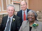 182532007 Outstanding Administrator Awards and Recognition of Administrator's Years of Service..Left to right:...Gordon J. Pettey, Donald L. Moore, and Carolyn Bailey Lewis
