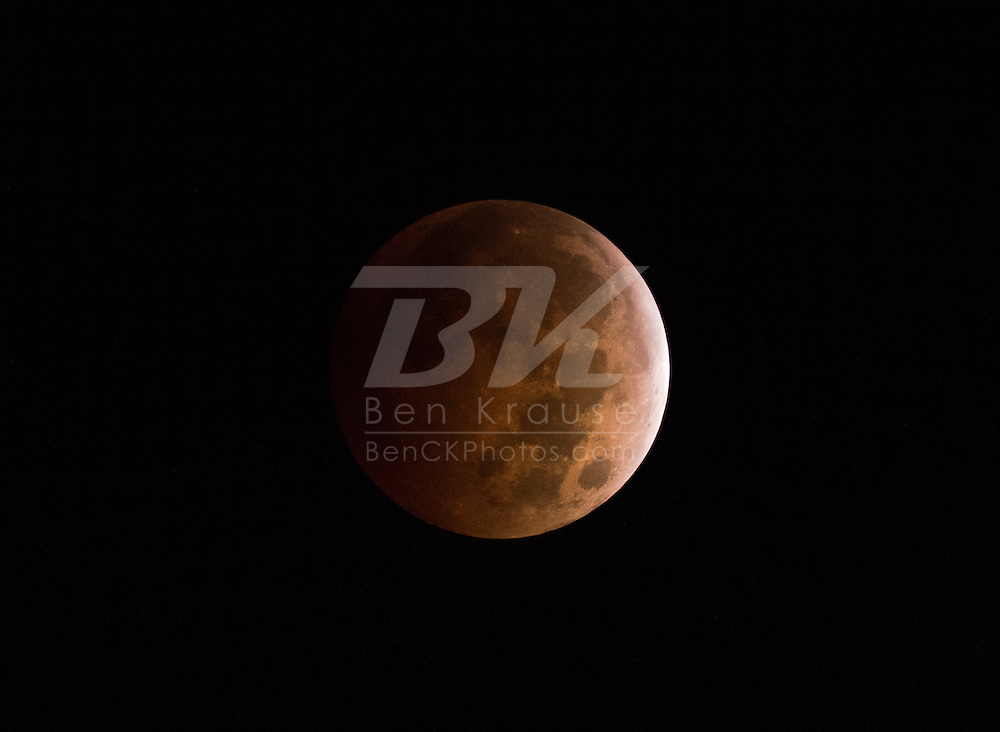 Lunar Eclipse on October 8, 2014.  Photo by Ben Krause