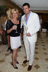 ALISON JACKSON and EDWARD TAYLOR at an evening of Dinner & Dancing at Daphne's, 112 Draycott Avenue, London SW3 on 24th July 2013.