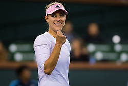 March 15, 2019 - Indian Wells, USA - Angelique Kerber of Germany in action during her semi-final at the 2019 BNP Paribas Open WTA Premier Mandatory tennis tournament (Credit Image: © AFP7 via ZUMA Wire)