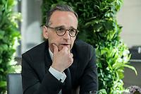 15 MAY 2019, BERLIN/GERMANY:<br /> Heiko Maas, SPD, Bundesaussenminister, waehrend einem Interview, Restaurant des Deutschen Bundestages, Reichstagsgebaeude<br /> IMAGE: 20190515-01-006