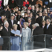 Vice President Cheney is sworn-in Jan. 20, 2005, at the US Capitol in Washington, DC.  ..Photo by Khue Bui..
