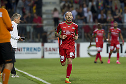August 27, 2017 - Oostende, BELGIUM - Oostende's Franck Berrier pictured after scoring during the Jupiler Pro League match between KV Oostende and Royal Antwerp, in Oostende, Sunday 27 August 2017, on the fifth day of the Jupiler Pro League, the Belgian soccer championship season 2017-2018. BELGA PHOTO KRISTOF VAN ACCOM (Credit Image: © Kristof Van Accom/Belga via ZUMA Press)