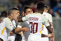 Esultanza gol Cengiz Under Roma Goal celebration with Gerson <br /> Cagliari 06-05-2018 Sardegna Arena <br /> Football Calcio Serie A Cagliari - Roma Foto Gino Mancini / Insidefoto