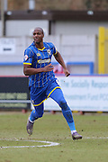Tom Elliott forward for AFC Wimbledon (9) in action during the Sky Bet League 2 match between AFC Wimbledon and Accrington Stanley at the Cherry Red Records Stadium, Kingston, England on 5 March 2016. Photo by Stuart Butcher.