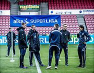 FODBOLD: FC Helsingør's spillere er ankommet til MCH Arena før kampen i ALKA Superligaen mellem FC Midtjylland og FC Helsingør den 3. november 2017 på MCH Arena i Herning. Foto: Claus Birch