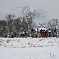 Winter Scene<br /> Grand Teton Mountains<br /> Wyoming