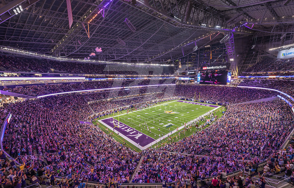 Minnesota Vikings vs. Los Angeles Rams on September 1, 2016 at U.S. Bank Stadium in Minneapolis, Minnesota.  Photo by Ben Krause/Minnesota Vikings