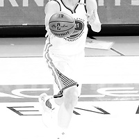 04 June 2017: Golden State Warriors guard Klay Thompson (11) passes the ball during the Golden State Warriors 132-113 victory over the Cleveland Cavaliers, in game 2 of the 2017 NBA Finals, at the Oracle Arena, Oakland, California, USA.