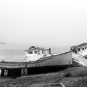 Abandoned ships in Campobello, Canada.