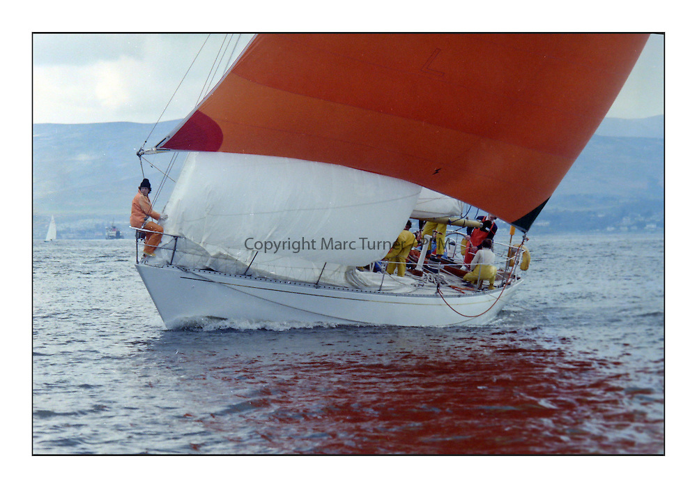 Historic Scottish Series Images<br /> <br /> Kennebec, off Gourock 1977<br /> <br /> Picture Copyright  PFM Pictures