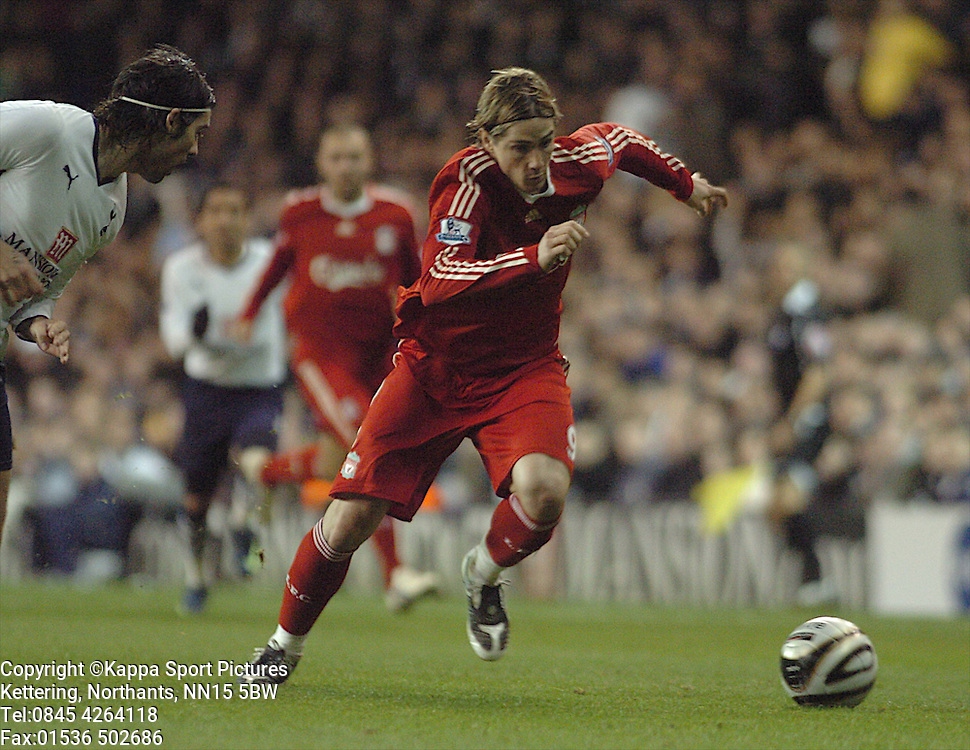 FERNANDO TORRES, EL NINO, LIVERPOOL, Tottenham Hotspur - Liverpool, Carling Cup White Hart Lane Wednesday 12th November 2008, 12/11/08