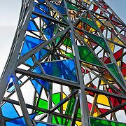 Rainbow sculpture at Keflavic International Airport in Reykjavik, Iceland