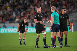 "November 1, 2019, TóQuio, Japão: TÃ""QUIO, TO - 01.11.2019: RUGBY WORLD CUP 2019 ALL BLACKS X WALES - Kieran Read. Match valid for the Rugby World Cup 2019 bronze medal match between All Blacks (New Zealand) and Wales (Wales) held at TOKYO STADIUM in Tokyo, JPN  (Credit Image: © Bruno Ruas/Fotoarena via ZUMA Press)"