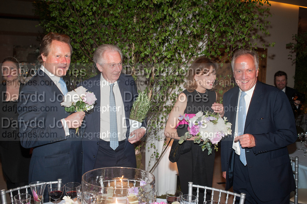 GUY MORRISON; JULIAN SEYMOUR; DIANA SEYMOUR, The Cartier Chelsea Flower show dinner. Hurlingham club, London. 20 May 2013.