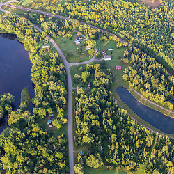The Mattawamkeag River from the air above Wytipitlock, Maine.