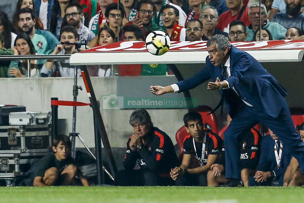 October 10, 2017 - Na - Lisbon, 10/10/2017 - The Portuguese football team received their Swiss counterpart tonight in the last game of the group stage to qualify for the 2018 FIFA World Cup in Russia , next June. Fernando Santos  (Credit Image: © Atlantico Press via ZUMA Wire)