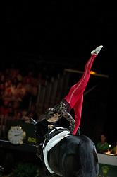 Hannah Eccles, (GBR), WH Bentley, John Eccles - Individuals Women Technical Vaulting - Alltech FEI World Equestrian Games™ 2014 - Normandy, France.<br /> © Hippo Foto Team - Jon Stroud<br /> 04/09/2014