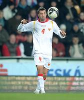 Fussball International, Nationalmannschaft   EURO 2012 Play Off, Qualifikation, Tschechische Republik - Montenegro        11.11.2011 Milan Jovanovic (Montenegro)  Foto ULMER/Claus Cremer    xxNOxMODELxRELEASExx
