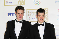 LONDON - NOVEMBER 30: Alistair Brownlee; Jonathan Brownlee attended the British Olympic Ball at the Grosvenor House Hotel, London, UK. November 30, 2012. (Photo by Richard Goldschmidt)