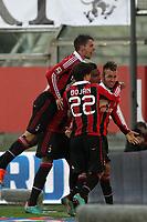 """Esultanza Stephan El Shaarawi Milan<br /> Goal celebration<br /> Parma 29/09/2012 Stadio """"Tardini""""<br /> Football Calcio Serie A 2012/13<br /> Parma v Milan<br /> Foto Insidefoto Paolo Nucci"""