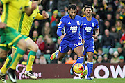 Birmingham City midfielder David Davis (26) on the attack during the EFL Sky Bet Championship match between Norwich City and Birmingham City at Carrow Road, Norwich, England on 28 January 2017. Photo by Nigel Cole.