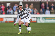 Forest Green Rovers Fabien Robert(26) passes the ball during the Vanarama National League match between Dagenham and Redbridge and Forest Green Rovers at the London Borough of Barking and Dagenham Stadium, London, England on 11 March 2017. Photo by Shane Healey.