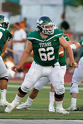 {BLOOMINGTON, IL: Kyle Cook during a college football game between the IWU Titans  and the Wheaton Thunder on September 15 2018 at Wilder Field in Tucci Stadium in Bloomington, IL. (Photo by Alan Look)