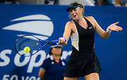 Maria Sharapova of Russia in action during the first round of the 2018 US Open Grand Slam tennis tournament, at Billie Jean King National Tennis Center in Flushing Meadow, New York, USA, August 28th 2018, Photo Rob Prange / SpainProSportsImages / DPPI / ProSportsImages / DPPI